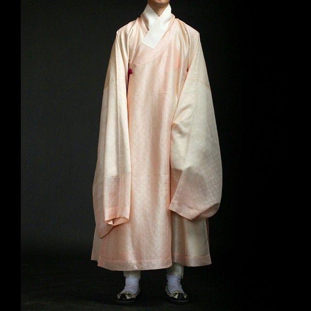 분홍색 도포.  #한복 #도포 #hanbok