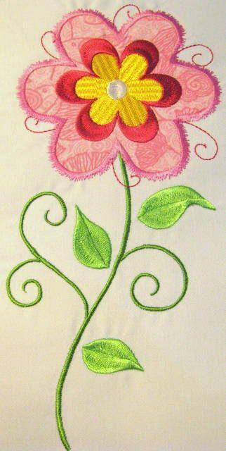 Vintage Flower 10 Machine Applique Embroidery Design  by KCDezigns, $3.50