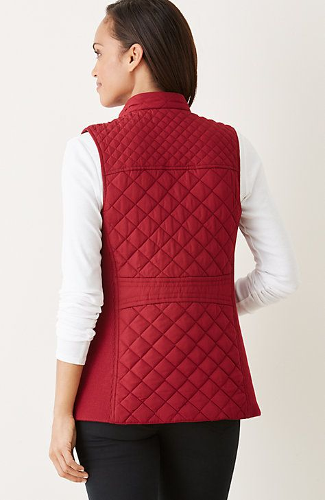 quilted & knit vest