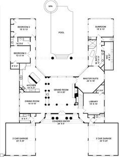 C SHAPE FLOOR PLAN | U Shaped House Floor Plans