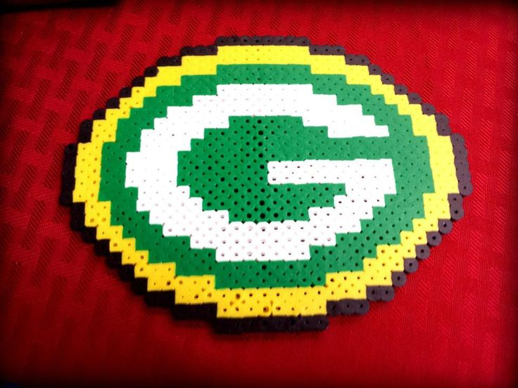 Green Bay Packers logo in Perler Beads by NCSand4th on Etsy, $10.00