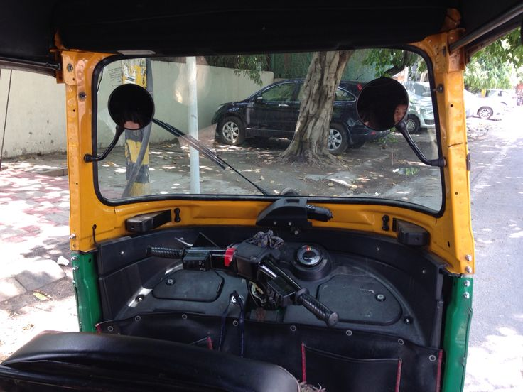 From the back of a rickshaw