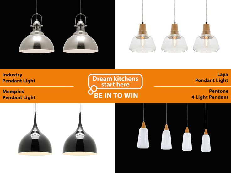 Lighting! Help us design a kitchen on Facebook - and you'll be in to win a $12,000 kitchen for yourself.