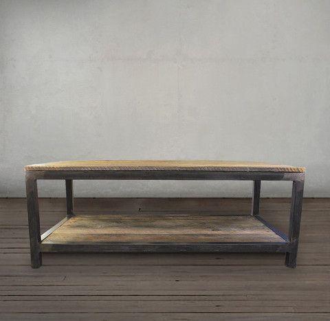 Reclaimed Wood Bi Level Coffee Table