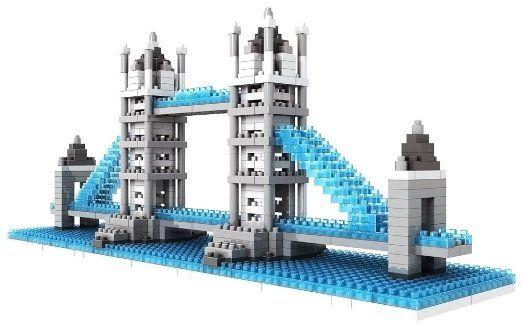 Micro Blocks, British Tower Bridge Model, Small Building Block Set. Toy for the advanced builder! #gift