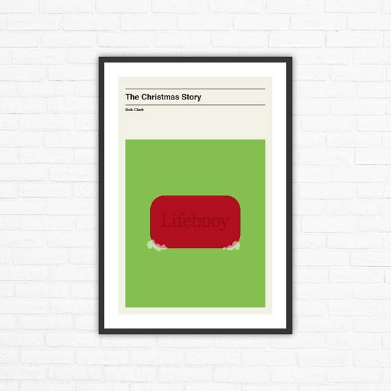 The Christmas Story Lifebuoy Soap Minimalist Movie Poster