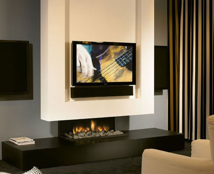 Minimalist Fireplace Design With Tv Set Minimalist Fireplace Tv