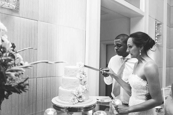Renitia and Andy Wedding l The One and Only l Cake cutting isn't so easy l Debbie Lourens Photography