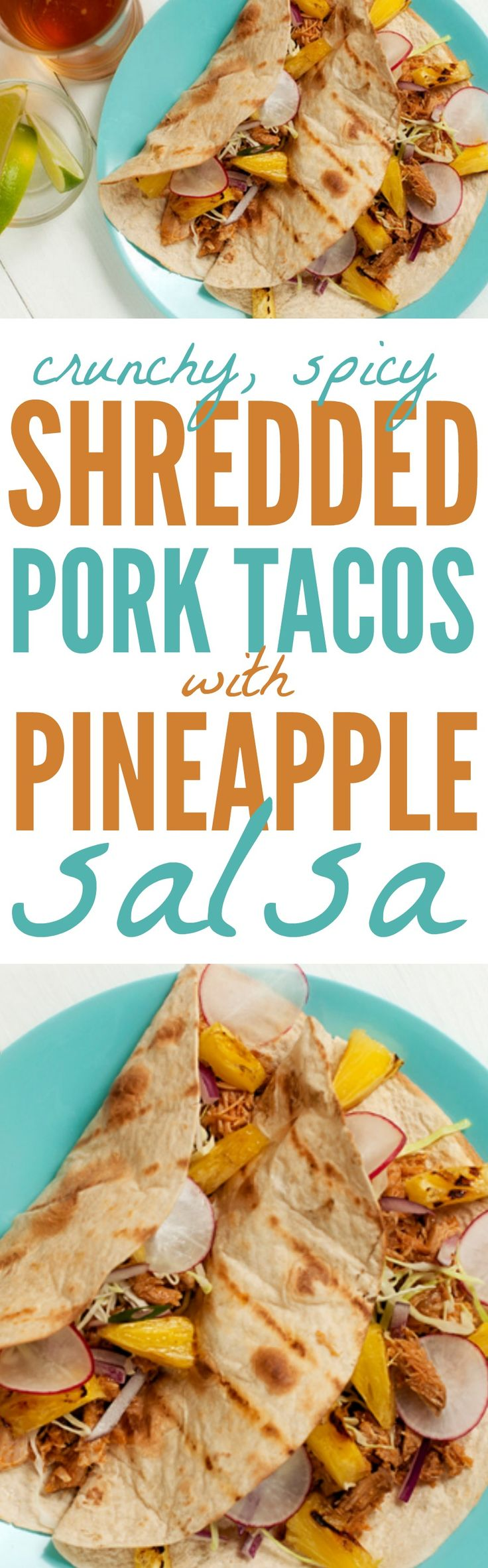 21 Day Fix Shredded Pork Tacos with Pineapple Salsa #21dayfix #21dayfixtacos #tacos #tacorecipes #porktacos #porktacorecipes #pineapplesalsa #cleaneating #cleaneatingtacos #cleaneatingporktacos #eatclean #cleaneatingrecipes #recipes #tacorecipes