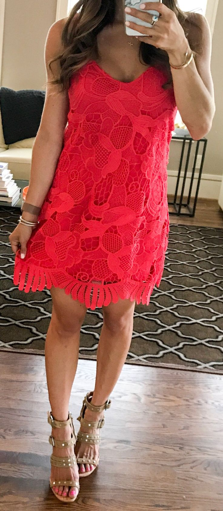 #summer #outfits SALE Alert! This Dress Is 30% Off (wearing Xs) And Comes In White And Black As Well! Love It For Upcoming Weddings Or Vacations & Can Be Dressed Up With Heels Or Down With Flats! Also These Shoes Have Been On Repeat Because SO Comfy!