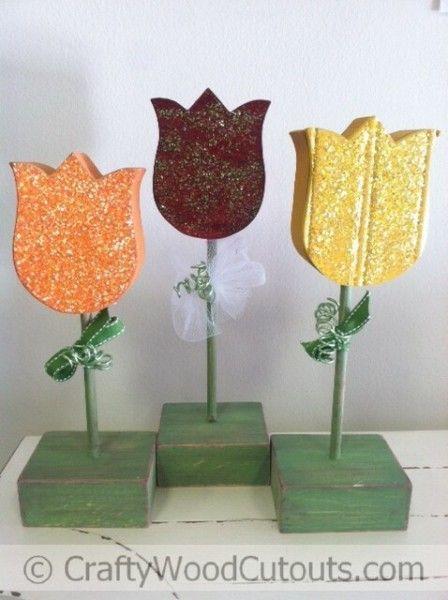 Spring Wood Crafts Flowers Birds Birdhouses