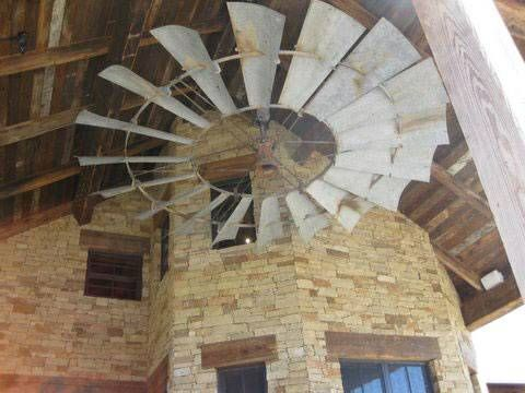 1000 Images About Huge Pulley Farm Windmill Ceiling Fan
