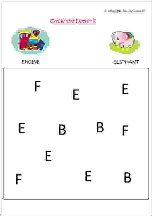 English alphabet recognition worksheets for preschool kids to understand letters in English language.