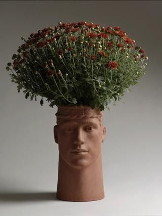 Head Flower Pots I Wonder If Can Make Molds Of My Sons They Would Love This
