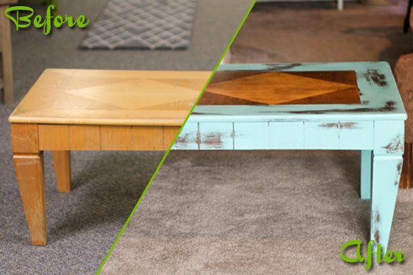 Plain Jane Coffee Table turned Interesting.: