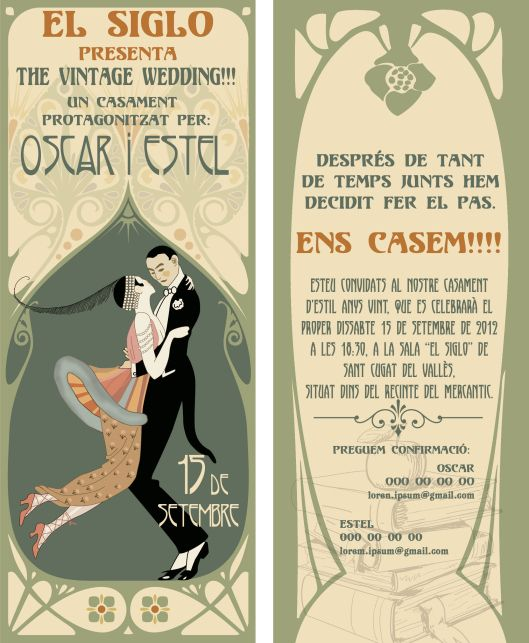 de boda al ms puro estilo vintage
