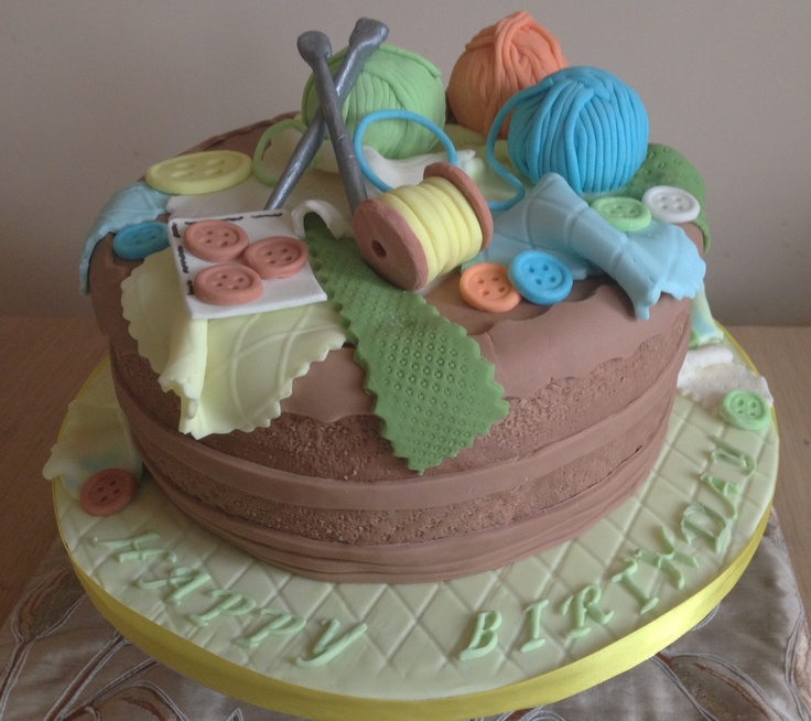 Knitting Cake Ideas : Best ideas about knitting theme cakes and other edible