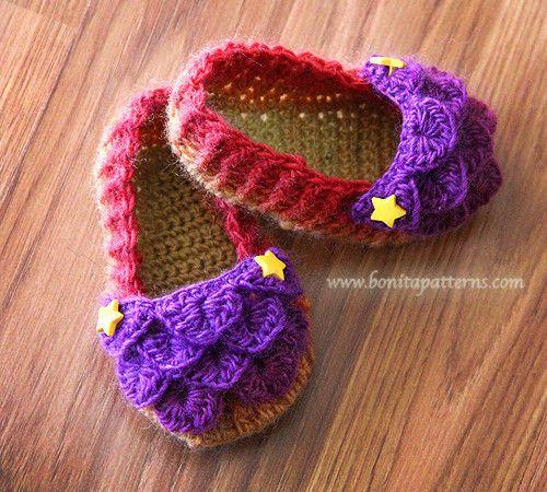 Crocodile Stitch Baby Loafers – Bonita Patterns