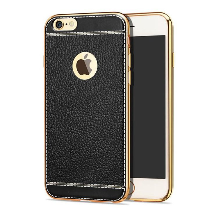 Bakeey™ Litchi Grain Plating TPU Silicone Ultra-thin Shockproof Cover Case for…