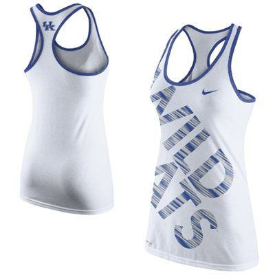Nike Kentucky Wildcats Women's Warp Performance Tank Top - White