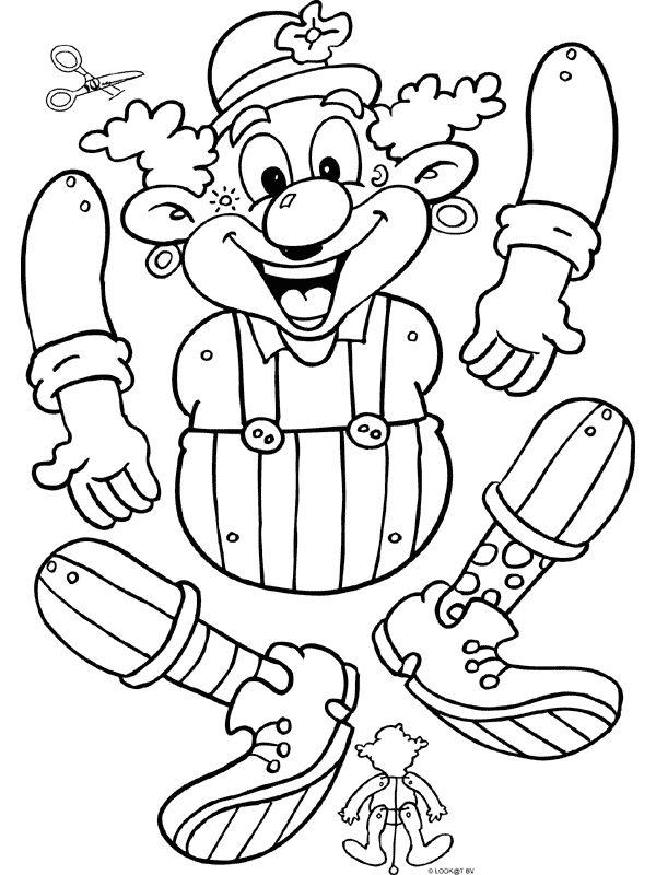 Dasmalbuch.de - Clown ( Hampelmann )
