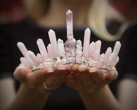 Rose quartz crown - How to Throw a Rocking Geology Themed Wedding