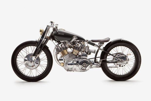 Built with orig Vincent Black Shadow parts