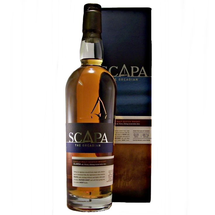 Scapa Glansa Single Malt Whisky from Orkney available to by online at specialist whisky shop whiskys.co.uk Stamford Bridge York