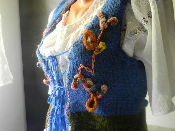Wool vest Autumn Leaves by JadAngel on Etsy
