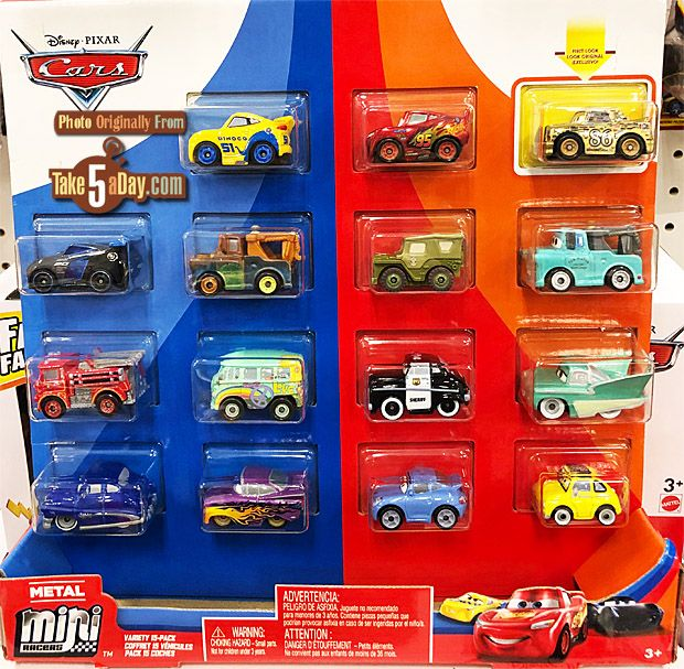The Mini Racers Variety 15 Pack Is Out Disney Pixar Cars