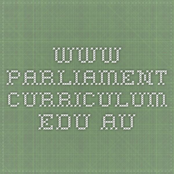 This website is designed for teachers and students by providing information about the nine parliaments and political parties in Australia that can be used as foundation knowledge to compare and contrast the different parliamentary systems and can be linked to real life situations of decision makings, roles, rules and democracy in the classroom.