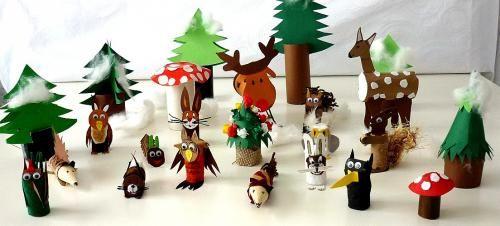 Waldtiere im Winterwald - Tiere Basteln - Meine Enkel und ich - Made with schwedesign.de