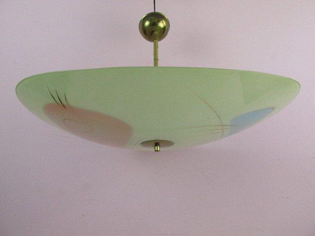 Vintage Lampe Deckenlampe, Tellerlampe, Hängelampe, Space Age, UFO, Rockabilly, 50er Jahre, Schlafzimmerlampe von ShabbRockRepublic auf Etsy