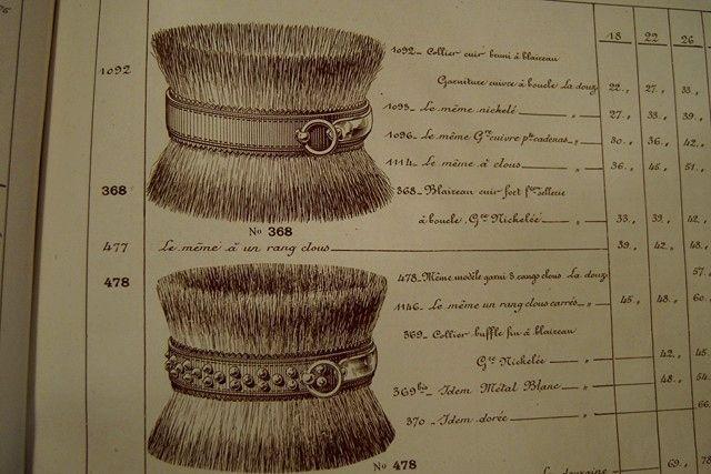 "French Badger Dog Collars, ""P. Allardin, Manufacture de Colliers"" Catalog 19th century"