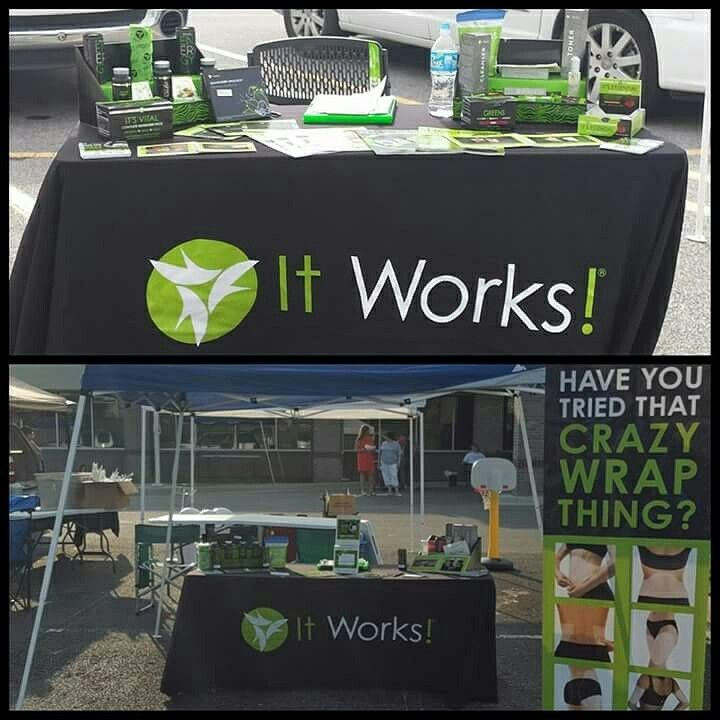 It Works Rep Using Stack Displays On Their Vendor Table. Looks Awesome!  Great Way