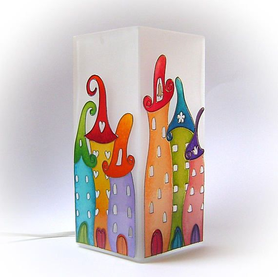 Fairy Tale City Table Lamp Mood Lighting Unique Nursery Desk