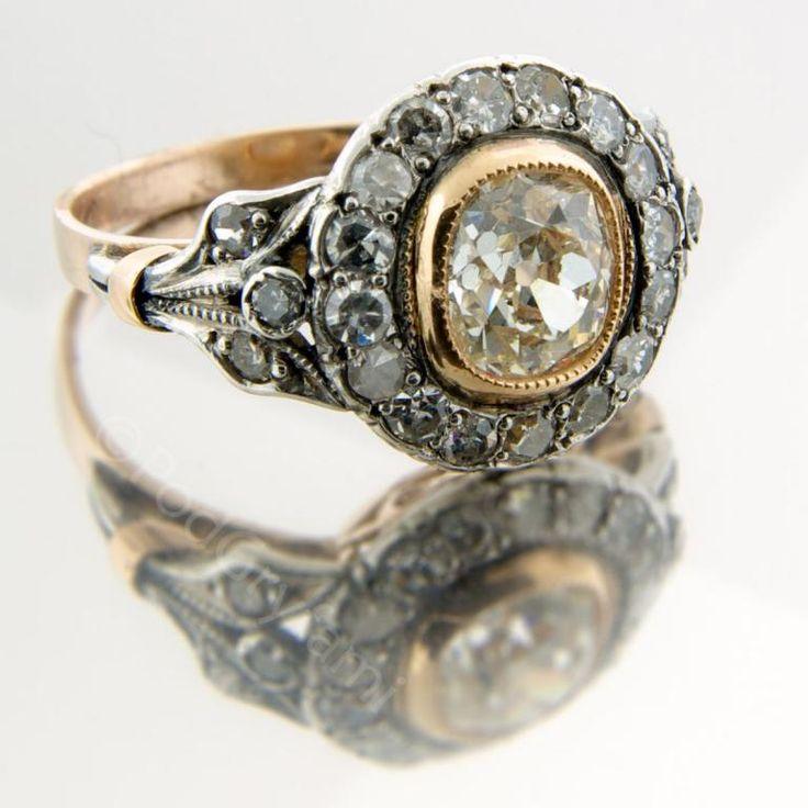 Pierścionek  z diamentami Austria lata 20-te