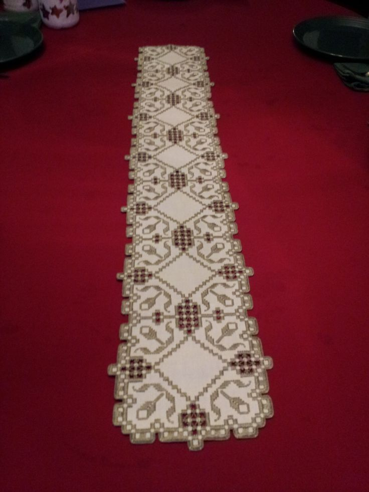Hardanger Table Runner by RuthsHardanger on Etsy https://www.etsy.com/listing/219887083/hardanger-table-runner