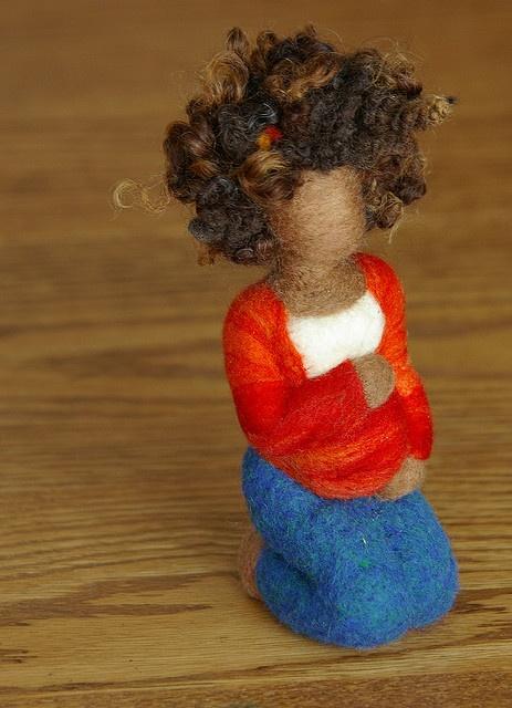 Felted Wool Pregnancy Sculpture by Beneath the Rowan Tree