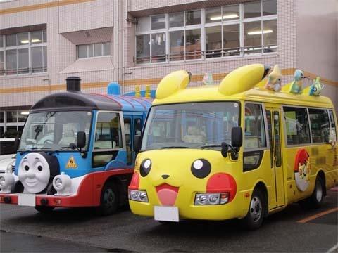 School Bus in Japan!! #pikachu #thomas