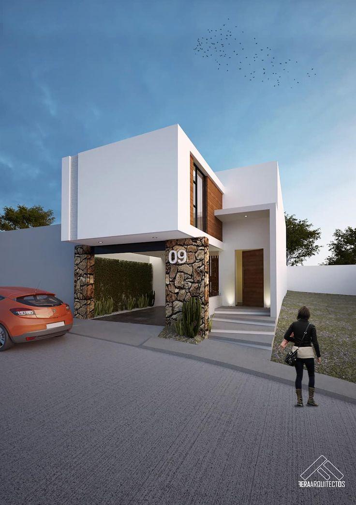 Best 25 fachadas minimalistas ideas on pinterest for Casa minimalista rectangular