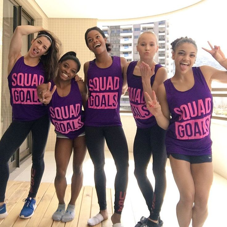 The U.S. Olympic Gymnasts Are Blowing Up Social Media with Their #SquadGoals in…