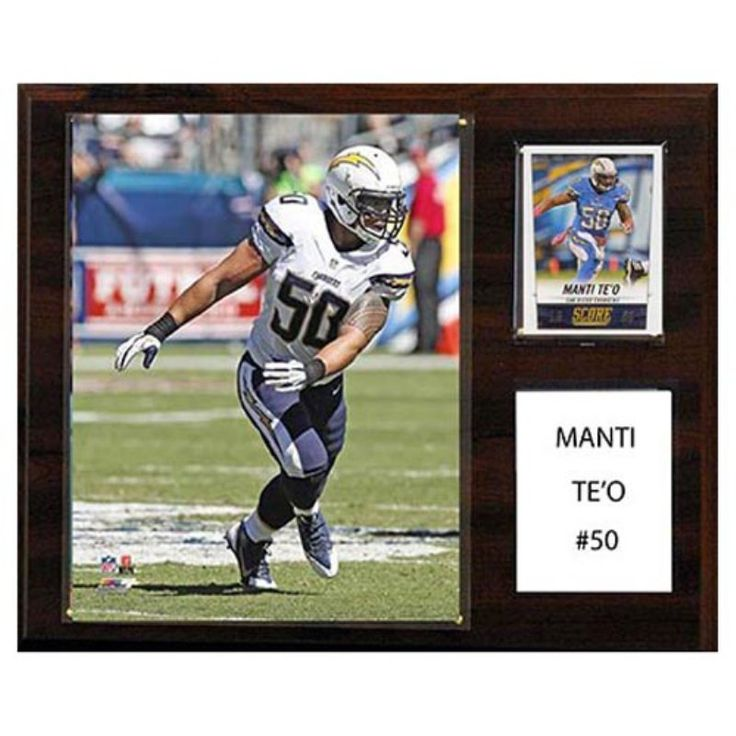 C and I Collectables NFL 15W x 12H in. Manti Te'o San Diego Chargers Player Plaque - 1215TEO
