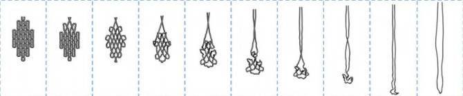 nanoestructura media: moléculas de una sola cadena que se pliegan en grandes formas