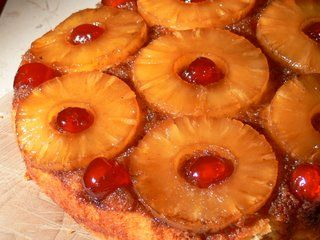 Pineapple upside down cake- old fashioned, but ohhhh soooo yummy, and its super easy to make too.
