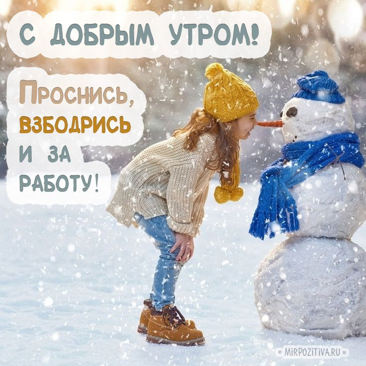 Открытки с добрым утром зимой прикольные