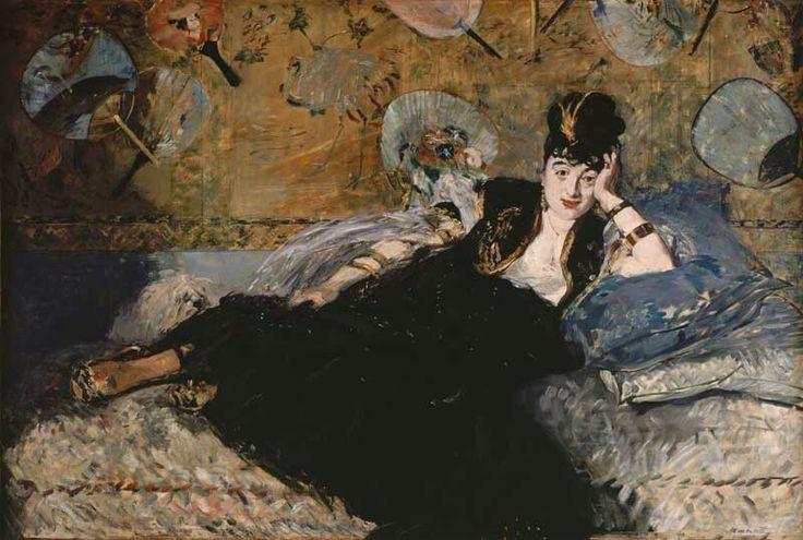 Édouard Manet, 1873, De vrouw met waaiers (Nina de Callias), Musée D'orsay.
