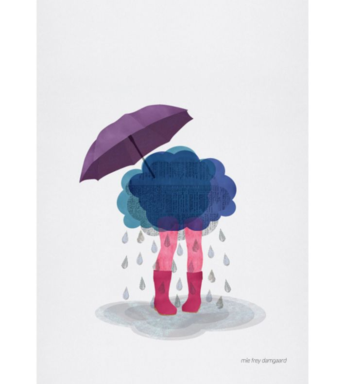 Is a series of illustrations about mood and emotions by Mie Frey Damgaard is a designer, illustrator and visual storyteller. You can buy this piece at www.artrebels.com #artrebels #art