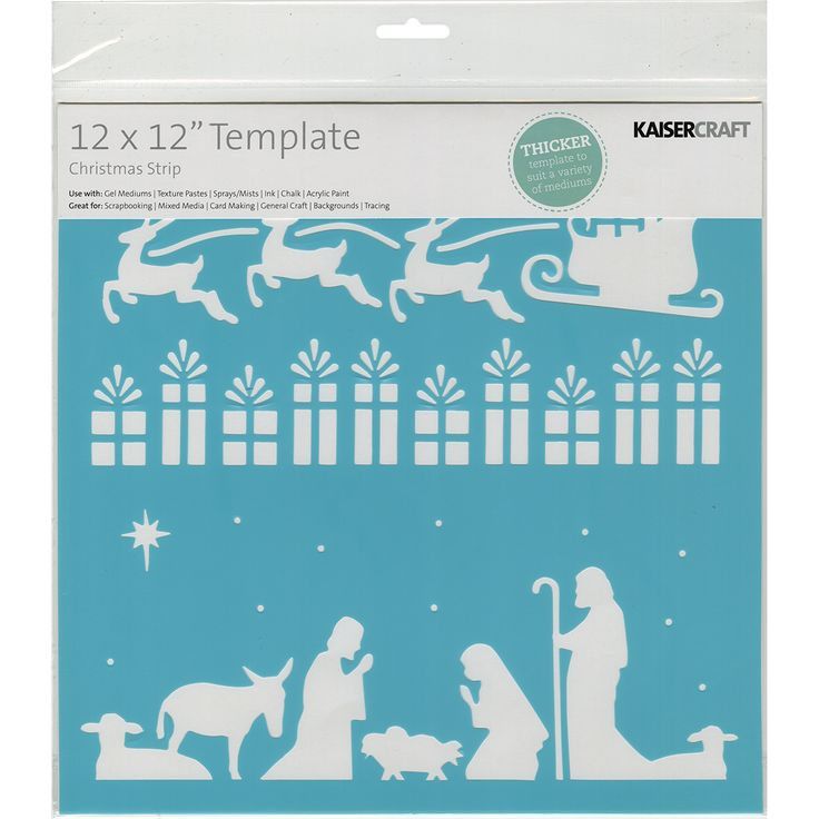 Kaisercraft Template 12inX12inChristmas Strip
