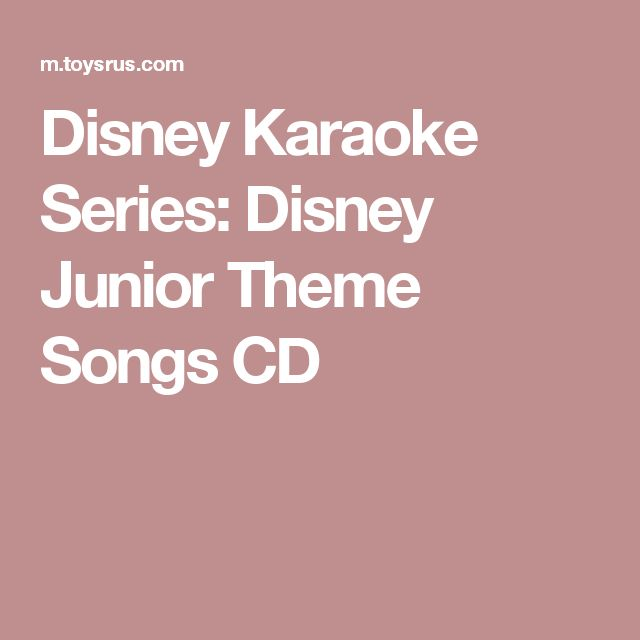 Disney Karaoke Series: Disney Junior Theme Songs CD
